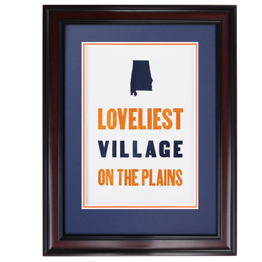Loveliest Village Letterpress Poster by The Old Try