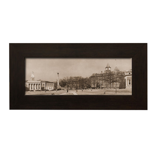 Auburn 1940's Ross Hall and Samford Hall Framed Panoramic Vintage Photo