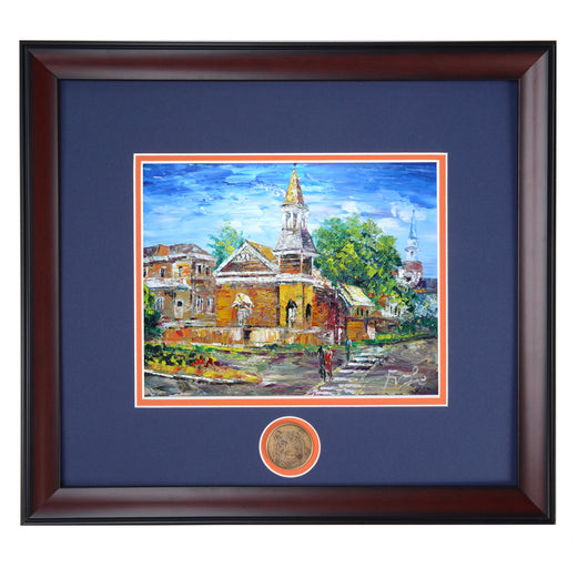 Auburn Chapel Framed Colorful Print