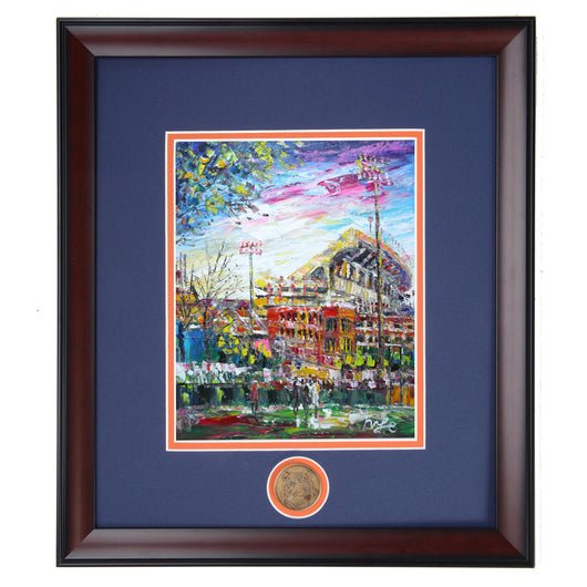 Jordan Hare Football Stadium Framed Print - Originals Available Instore - Limited Availability