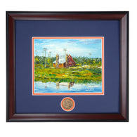 Auburn University Agricultural Heritage Park Red Barn Framed High Quality Print