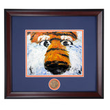 Aubie Mascot Up Close Framed Photo - High Quality Giclee Print