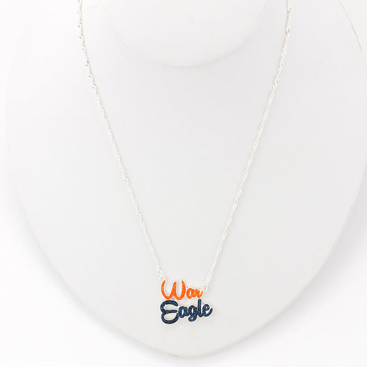 War Eagle Slogan Necklace