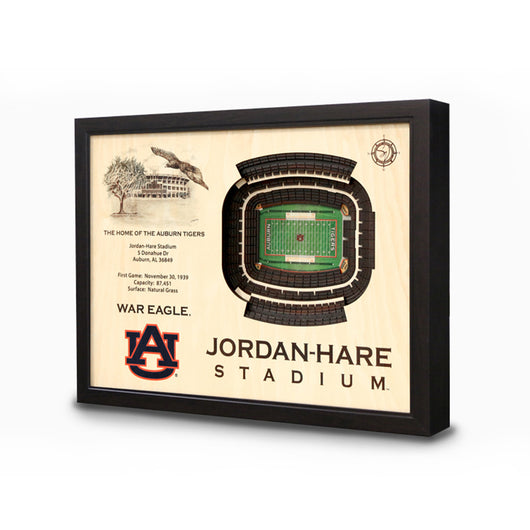 Auburn Jordan-Hare 3D Stadium View Wall Art