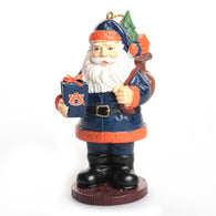 Auburn Santa with Present Ornament