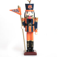 Auburn Nutcracker with Flag Ornament