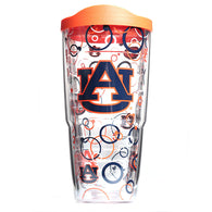 24 oz Auburn Bubble Tervis with Lid