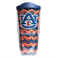 24 oz Auburn Chevron Tervis with Lid