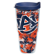 Auburn 24 oz Splatter Paint Tervis with lid