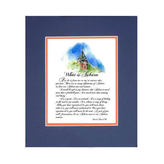 Legendary Supporter David Housel Inspiring Words - What is Auburn? Framed Print
