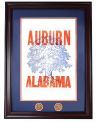 A-Day 2013 Poster Series Auburn Alabama framed, white