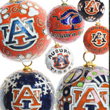 Auburn Paw Orange Cloisonné Ornament