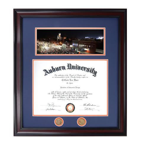 Iron Bowl 2013 Victory Celebration at Toomer's Corner Diploma Frame