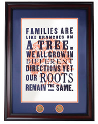 A-Day 2013 Poster Series: Families Letterpress, framed, white