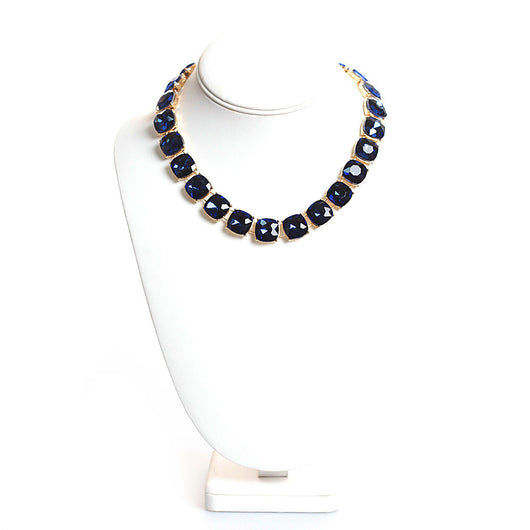 Blake Necklace in Gold and Navy