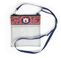 Auburn Clear Crossbody Bag with Pocket