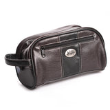 Auburn Men's Leather Toiletry Bag