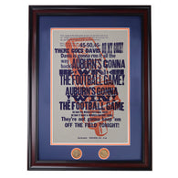 The Call Letterpress Poster, natural, framed