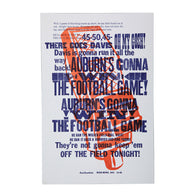 The Call Letterpress Poster Unframed, white