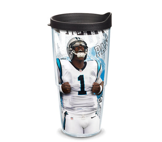Cam Newton 24-ounce Tervis with Lid