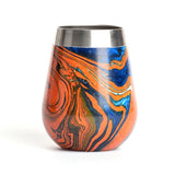 marbled wine glass