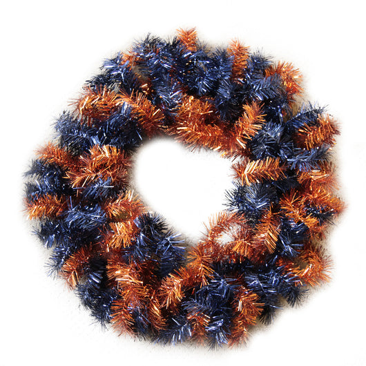 Orange and Blue Garland Wreath