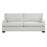 Adeline Sofa, Light Grey Cryptonhome Texture Pattern, Black Frame