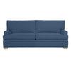 Adeline Sofa, Navy Cryptonhome Diamond Pattern, Dutch Cocoa Frame