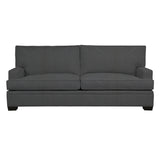 Adeline Sofa, Dark Grey Cryptonhome Texture Herringbone Pattern, Black Frame