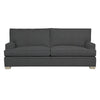Adeline Sofa, Dark Grey Cryptonhome Texture Herringbone Pattern, Dutch Cocoa Frame
