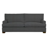 Adeline Sofa, Dark Grey Cryptonhome Texture Herringbone Pattern, Sable Frame