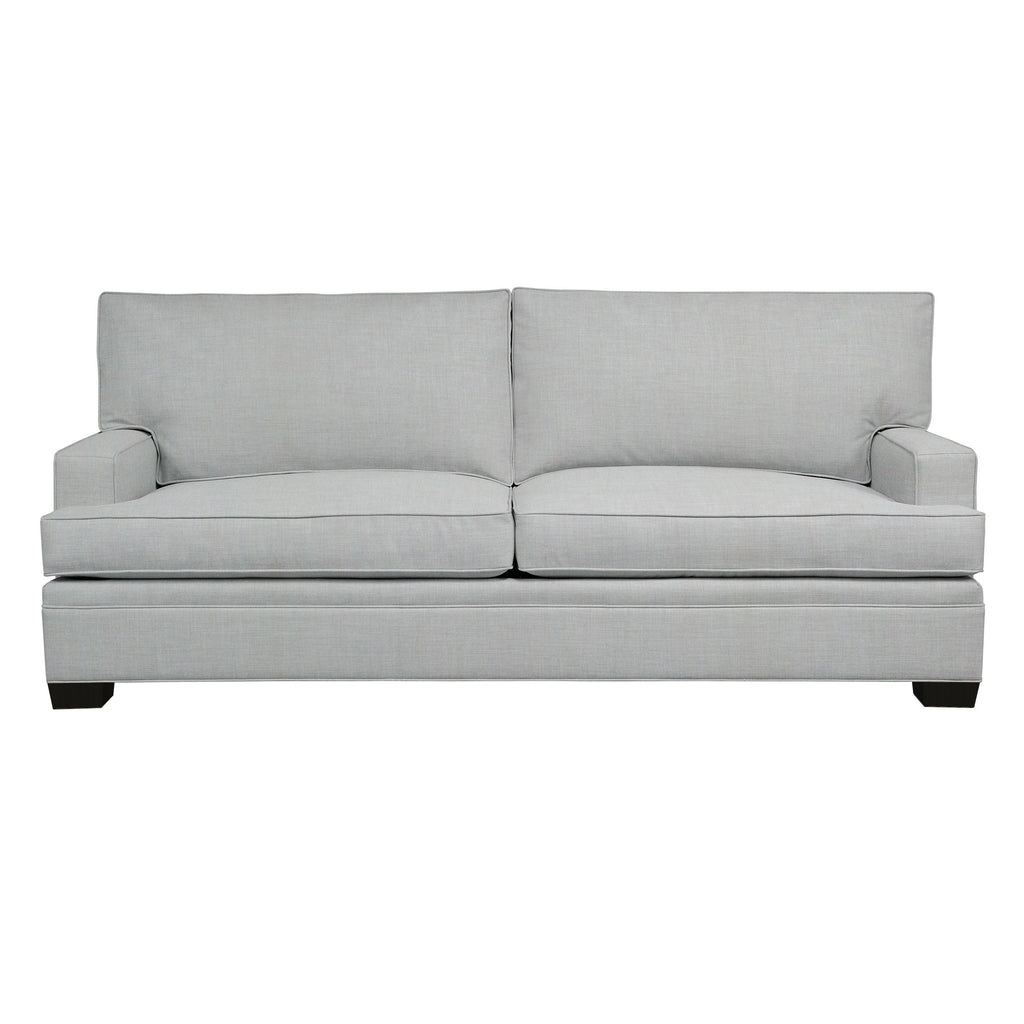 Adeline Sofa, Medium Grey Cryptonhome Texture Herringbone Pattern, Black Frame