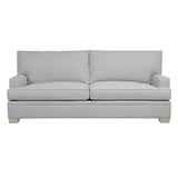Adeline Sofa, Medium Grey Cryptonhome Texture Herringbone Pattern, Dutch Cocoa Frame