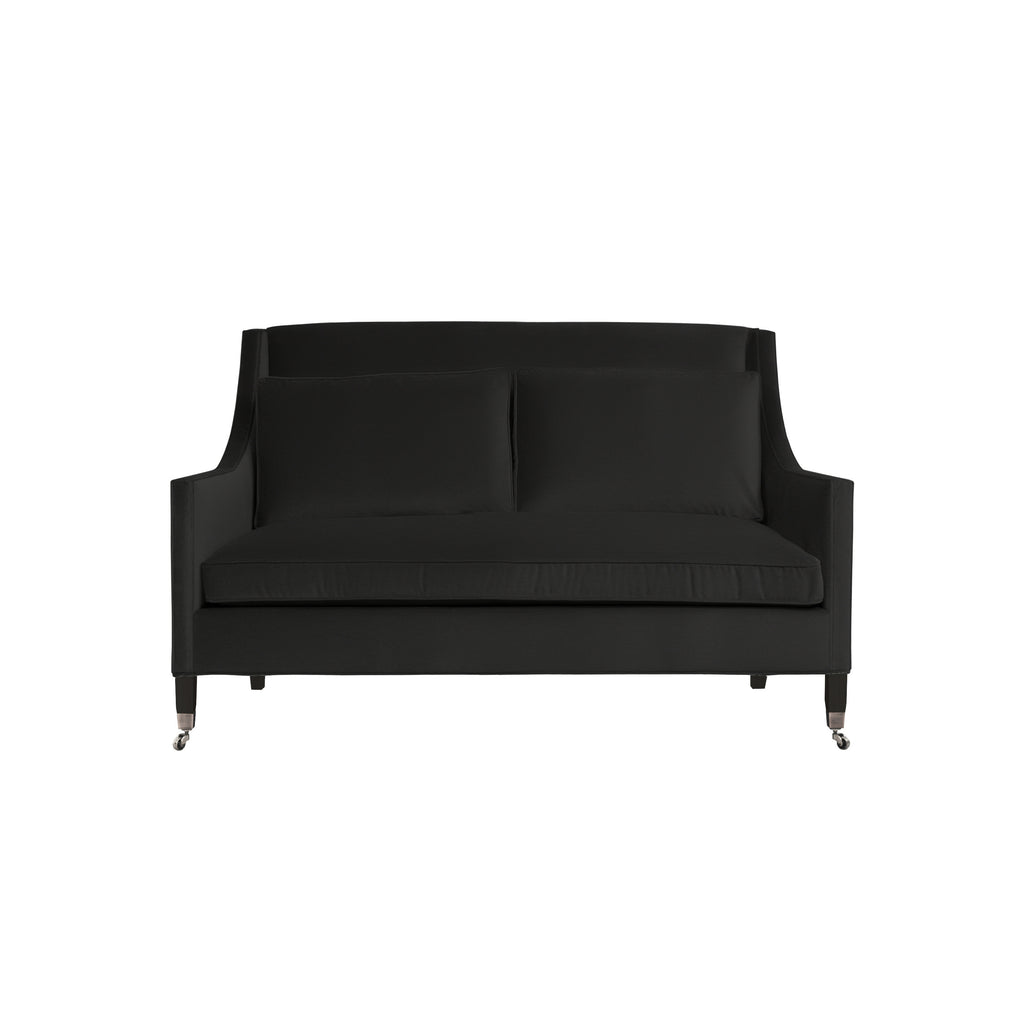 Carter Sofa, Dark Grey Velvet , Black Frame