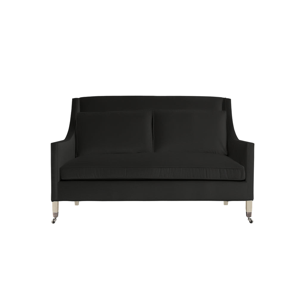 Carter Sofa, Dark Grey Velvet , Dutch Cocoa Frame