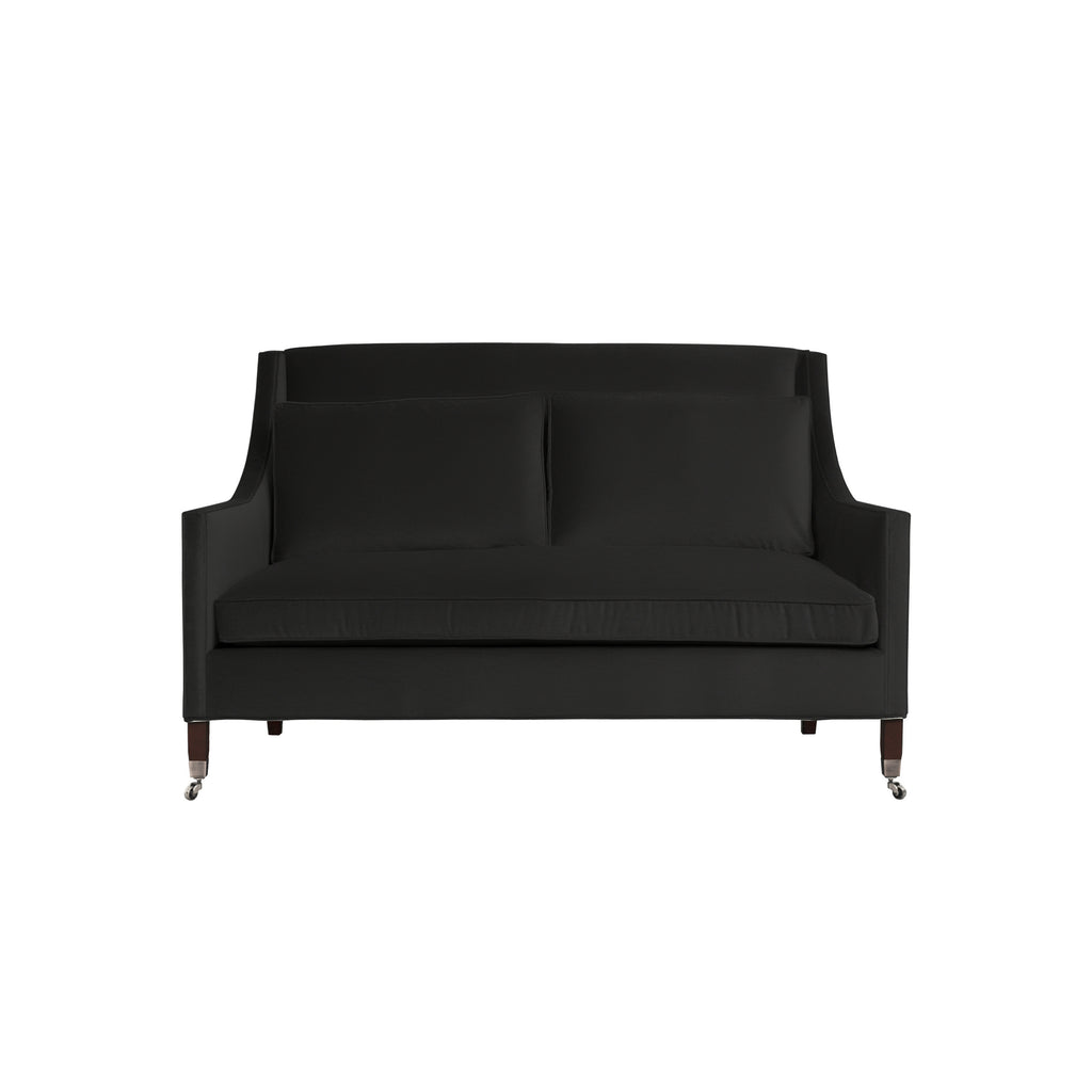 Carter Sofa, Dark Grey Velvet , Sable Frame