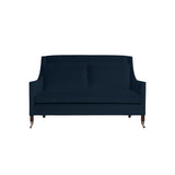 Carter Sofa, Navy Velvet , Sable Frame