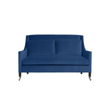 Carter Sofa, Blue Solid , Black Frame