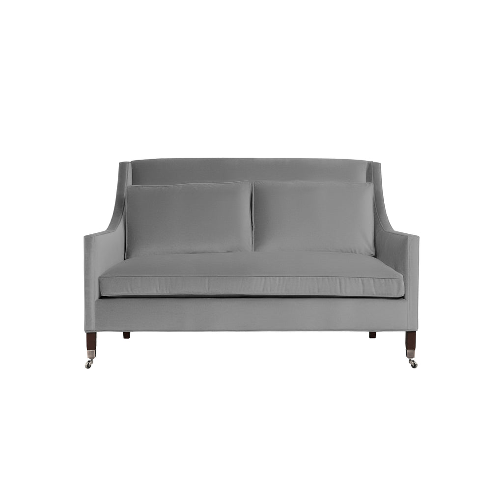 Carter Sofa, Light Grey Solid , Sable Frame