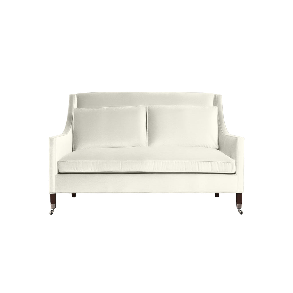 Carter Sofa, Ivory Solid , Sable Frame