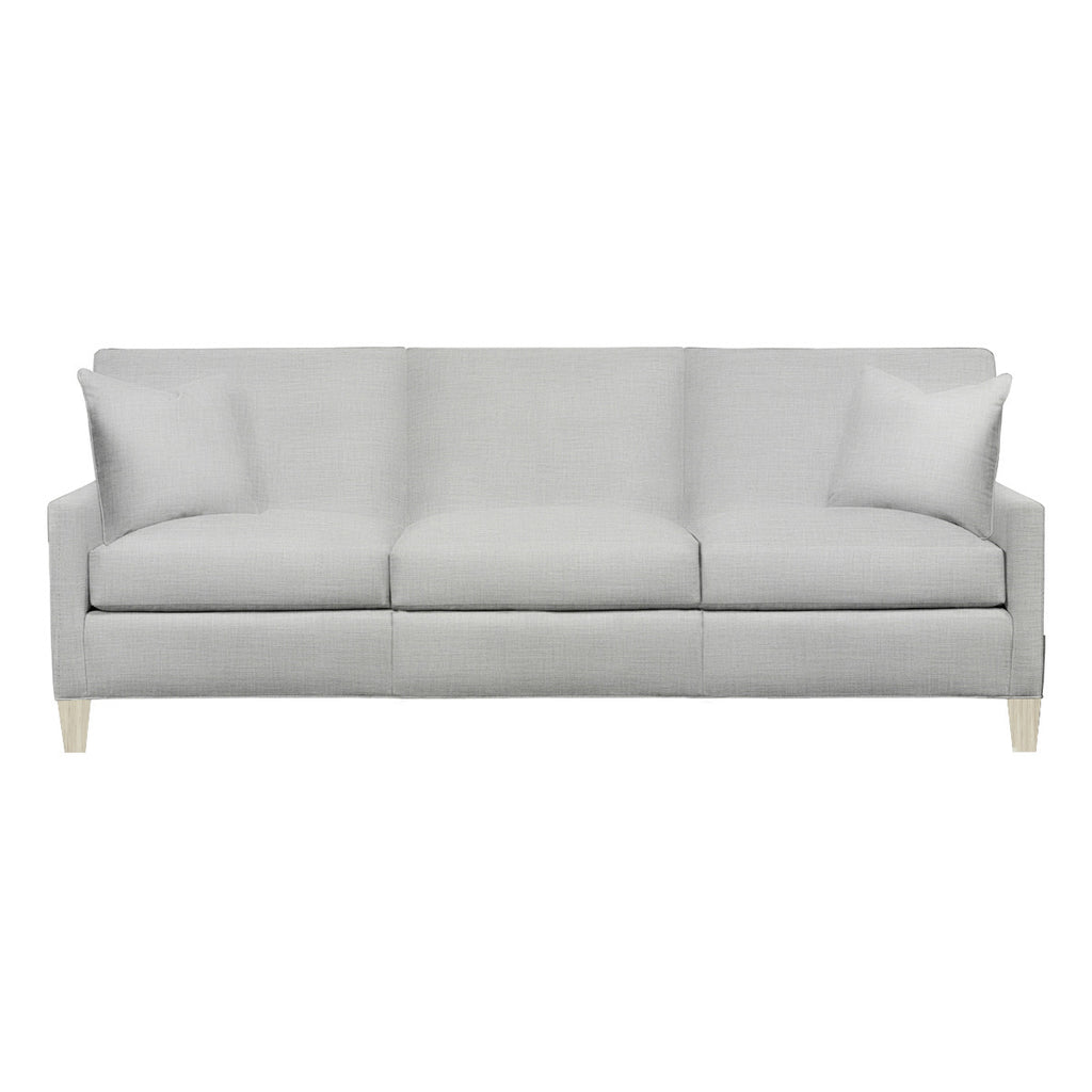 Emma Sofa, Light Grey Cryptonhome Texture Pattern, Dutch Cocoa Frame
