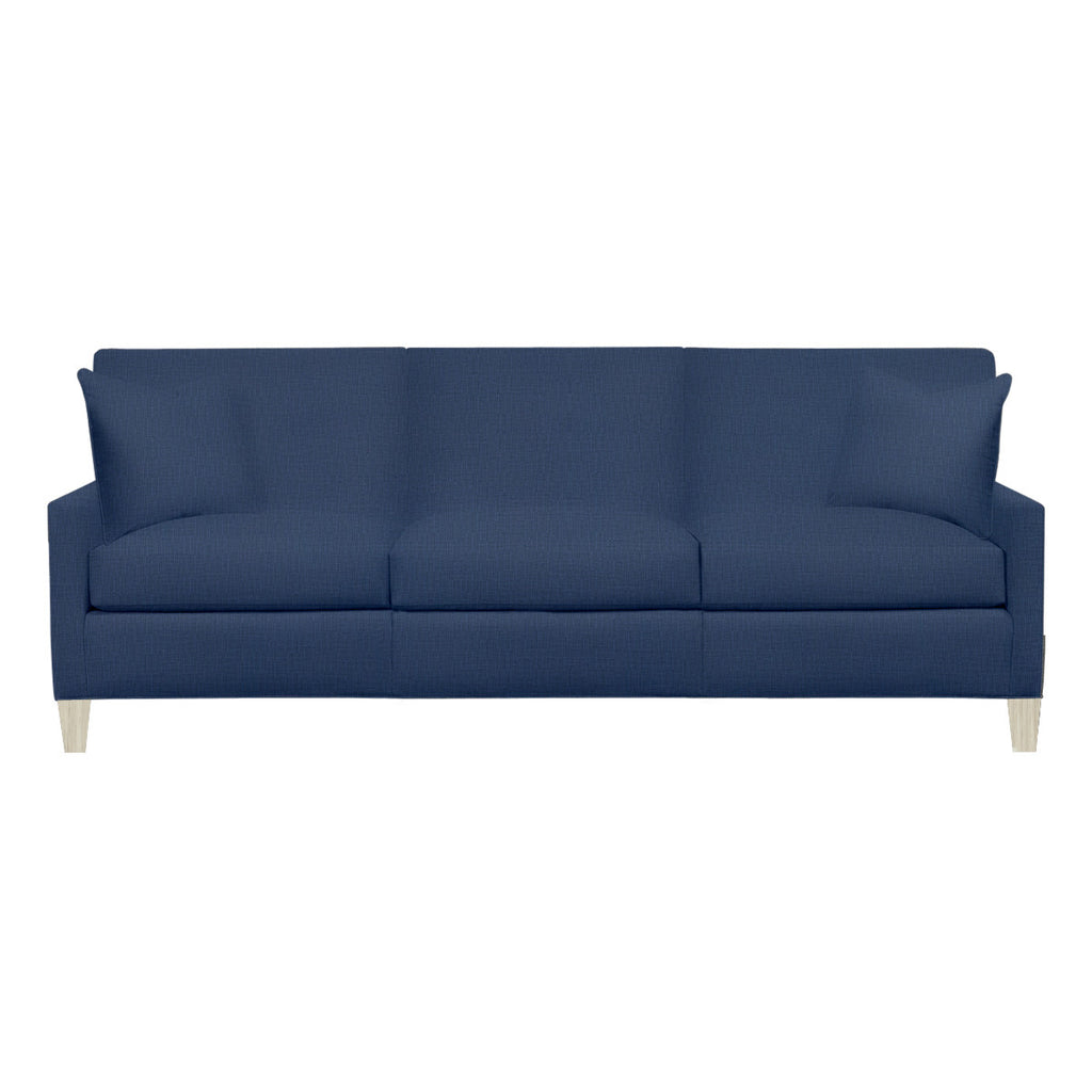 Emma Sofa, Navy Cryptonhome Texture Pattern, Dutch Cocoa Frame