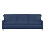 Emma Sofa, Navy Cryptonhome Diamond Pattern, Dutch Cocoa Frame