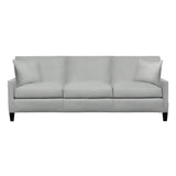 Emma Sofa, Medium Grey Cryptonhome Texture Herringbone Pattern, Black Frame