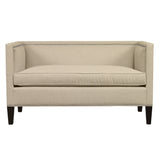 Cameron Sofa, Cream Velvet , Black Frame