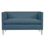 Cameron Sofa, Blue Velvet , Dutch Cocoa Frame