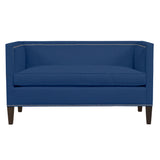 Cameron Sofa, Blue Solid , Sable Frame