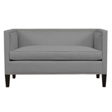Cameron Sofa, Light Grey Solid , Black Frame