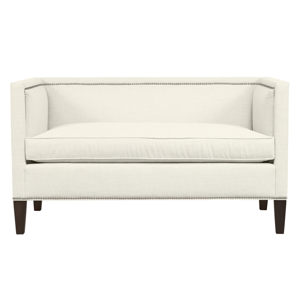 Cameron Sofa, Ivory Solid , Sable Frame ...