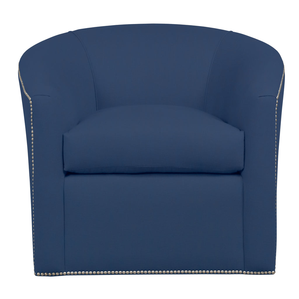 Harper Chair, Navy Cryptonhome Texture Pattern